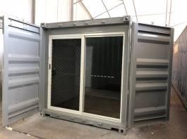 Slider behind Container Doors